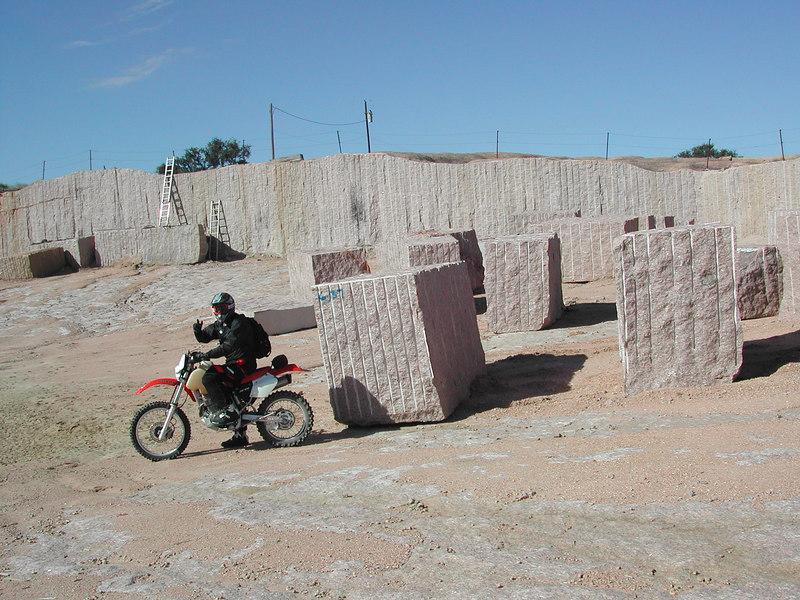 Tim in the granite quarry