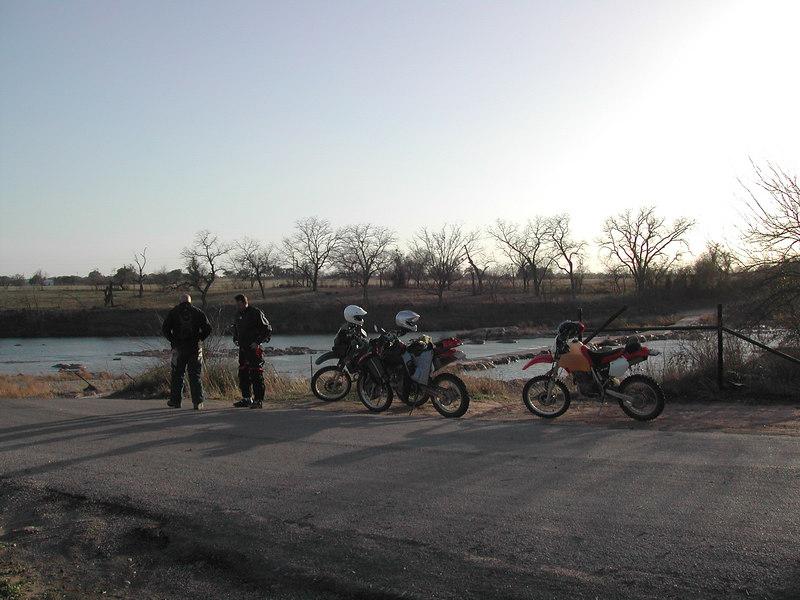 Late afternoon Llano river crossing break