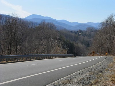 Rt. 29 southbound in Nelson County, just north of the Rockfish River