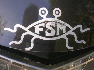 The Flying Spaghetti Monster.  FSM Bless You.