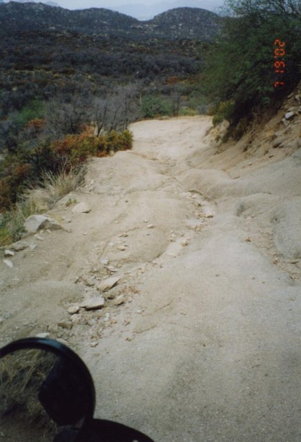 This is looking back down the Tuff Spot from the top.  It is actually much steeper than it looks in this photo.