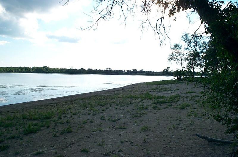 Beach at campground
