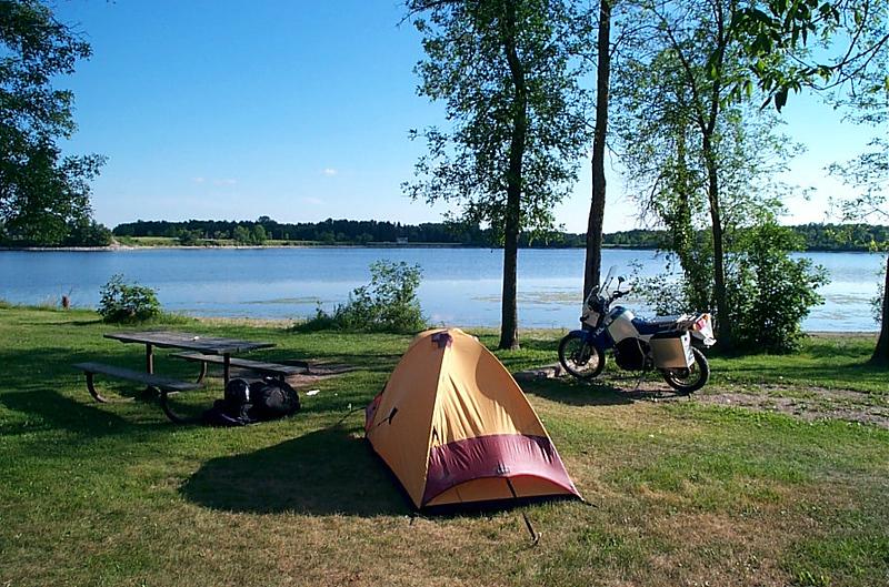 Campground at Lake Bronson