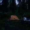 KLR 650 at campground