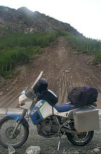 KLR 650 with landslide