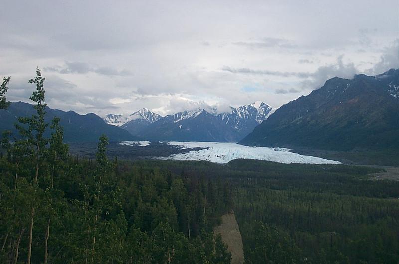 Matanuska Glacier in Chugach Mountains