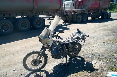 KLR 650, broken down