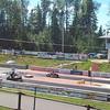 Snowmobile drag race