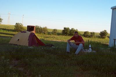 Makeshift campground