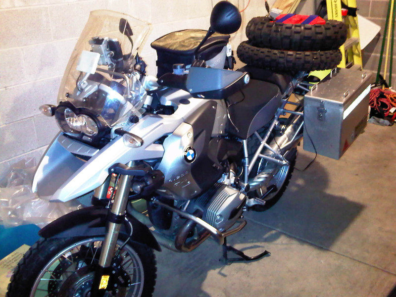 R1200GS all packed and ready to go.