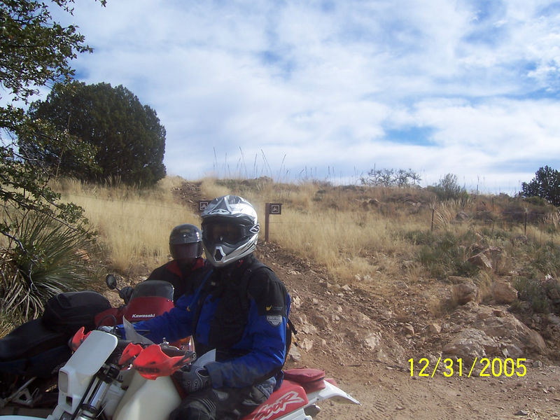 After we left the Chimney Rock area, Craig led us on the bike and ATV trails in the Reddington area. There is one of the trails we just came down, behind Craig's head.