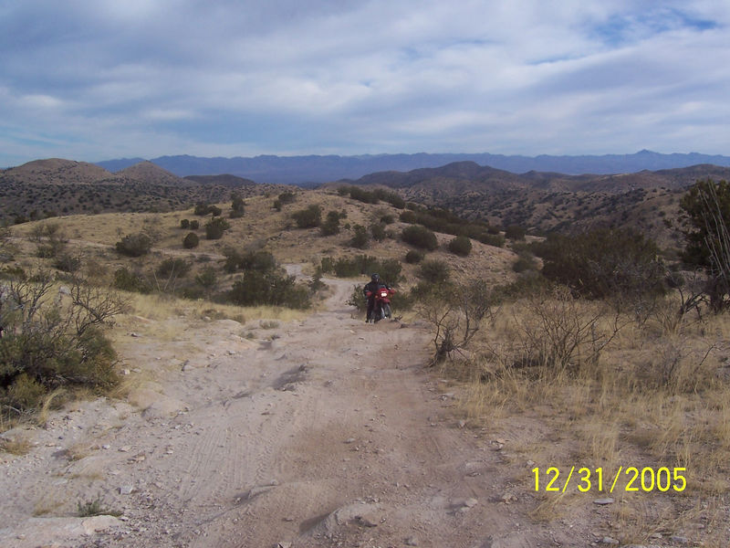Here is Randall coming up a rocky incline as we returned towards the main road.
