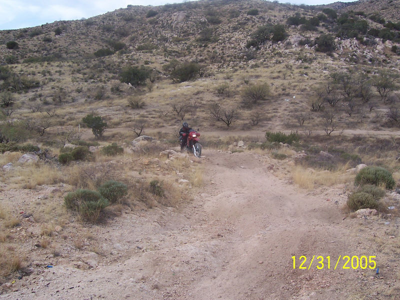 Here is Randall after the final climb out of the ATV trail.