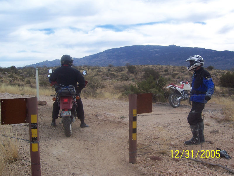 Here are Crag and Randall at the end of the ATV trail.  It was a good challenging ride and no tipovers occured.  From here we rode down to Tanque Verde Rd and the went our sperate ways home. By the way, I have never seen so much traffic on Reddington Rd as we saw coming back down it while leaving.