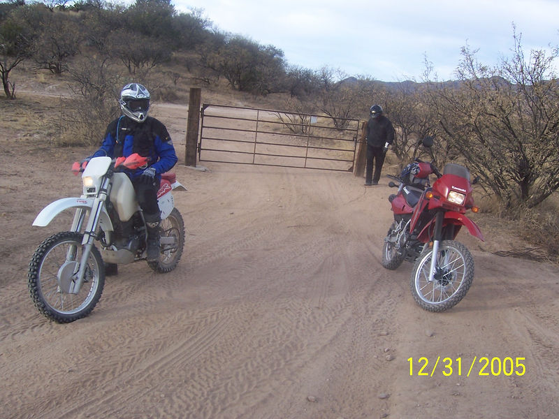 There were three gates getting to Chimney Rock.  This is Craig and Randall at the second gate.