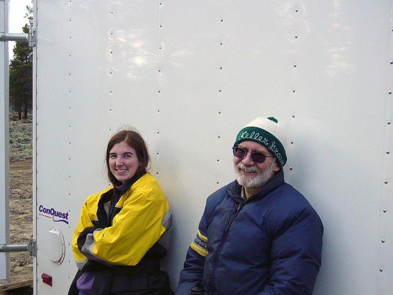 "<font size=""+1"">Take a skip in the Time Machine, here's Don and Laura Stephenson AFTER the race.  They looks sort of worn out and related that, well, it was 100 miles of 3 foot whoops.  I feel sooooo bad that I missed out on that experience. </font>"