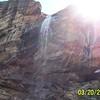 Sun Behind Chiva Falls
