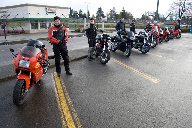 Riders Getting Ready to Leave Tacoma