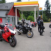 Kid Valley fill up just before running up the mountain
