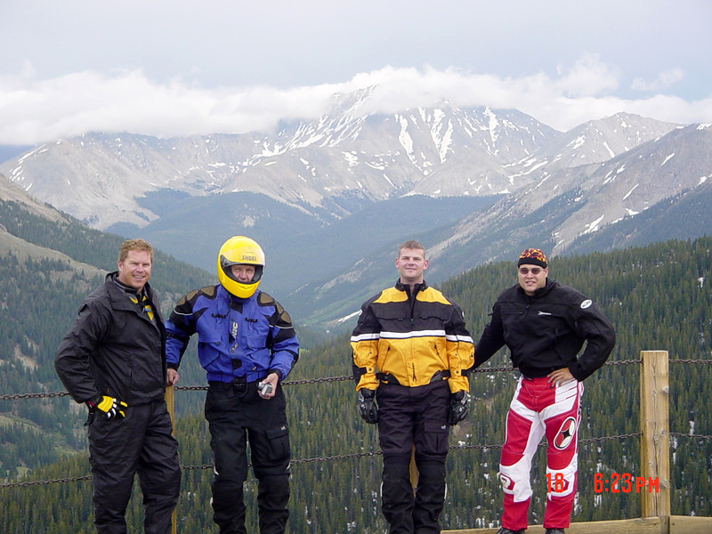 Independence Pass, outstanding scenery at 12000 ft. Craig, Glenn, Clint, Dennis