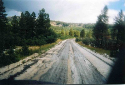 Hail on Colombine Pass.