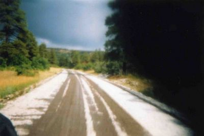 Hail on Colombine pass