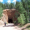 Old train tunnel on Phantom Canyon Road