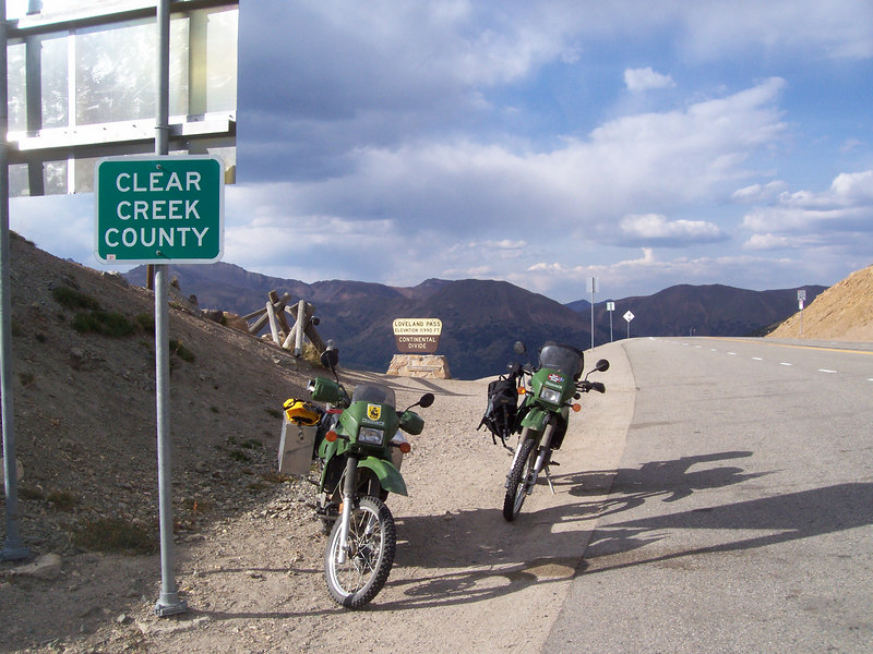 another Continental Divide crossing, this one on the pavement at Loveland Pass