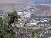 A  view from lookout Mountain into Golden and the Coors Brewery