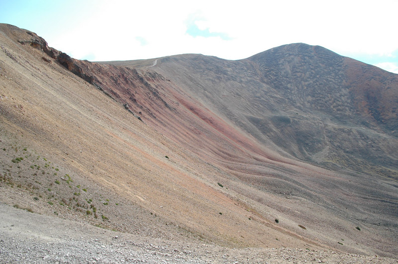 Another view of Red Cone, with the trail seen along the ridge
