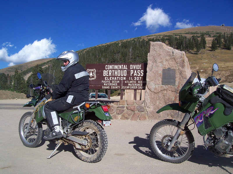 On the way to Winter Park we cross the Continental Divide