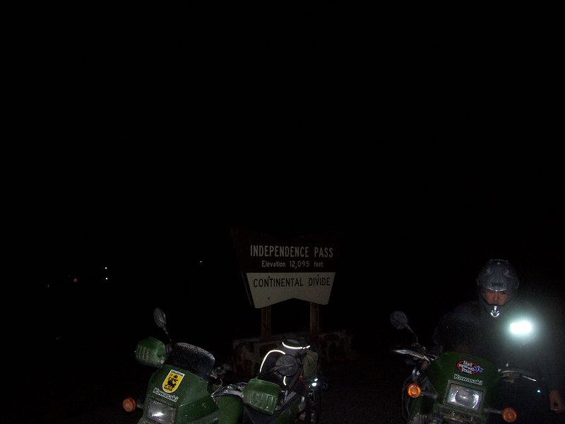 the temps were dropping fast riding up the pass after dark...