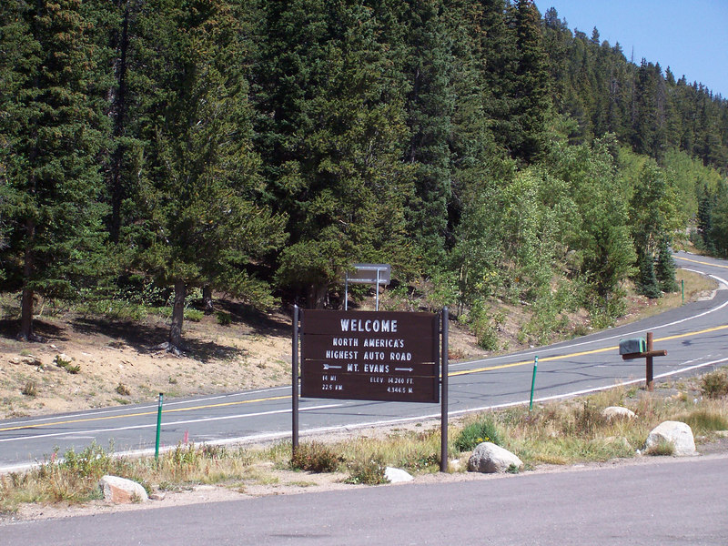 Hwy 103 heading to Mt Evans is full of twistes and elevation change, crosses Squaw pass to the East