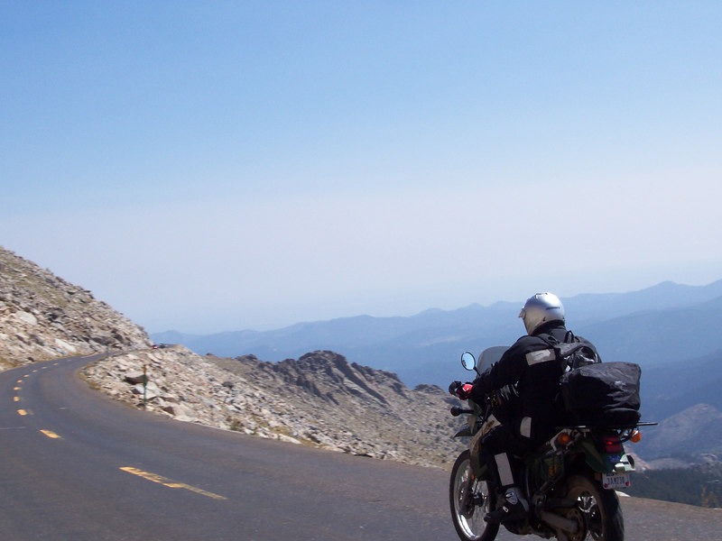 The road up to Mt Evans has some killer views all the way up