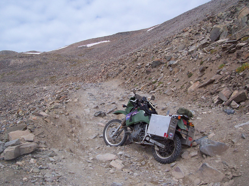 there were some rough rocky ledges going up Mosquito from Alma