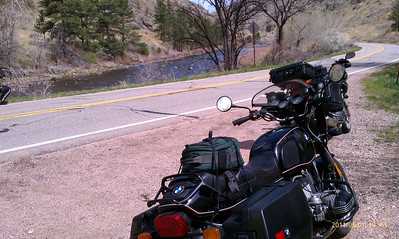 CO14, west of Fort Collins, Colorado. Cache La Poudre Scenic Byway