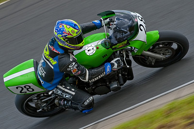 Warwick Nowlands, 2 times Endurance World champion on the P&M endurance Kawa Z1000. Nice style, nice bike.