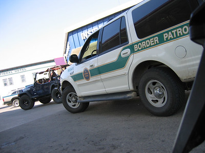 Light skirmish with Border Patrol....