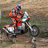 Titleholder Fabrizzio Meoni of Italy steers his KTM during the fifth stage of the Dakar Rally between Rabat and Er-Rachidia, Morocco Tuesday, Jan. 1, 2002. (AP Photo/Presse-Sports)  MAGS OUT INTERNET OUT NO SALES
