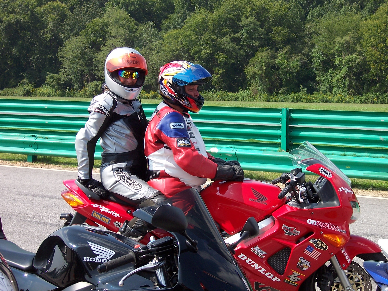 On the back with Reg Pridmore at VIR
