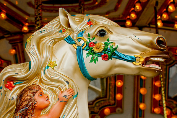 My favorite horse on the carousel.