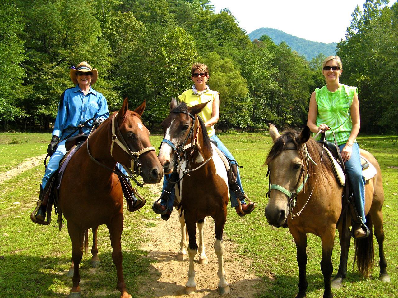 Skert, Susan and Nan at Trackrock Stables in N.GA.