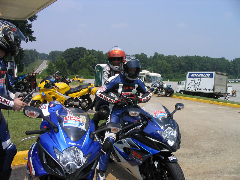 On the back of Jamie James bike.  We hit 170mph on the back stretch at Road Atlanta in July 06