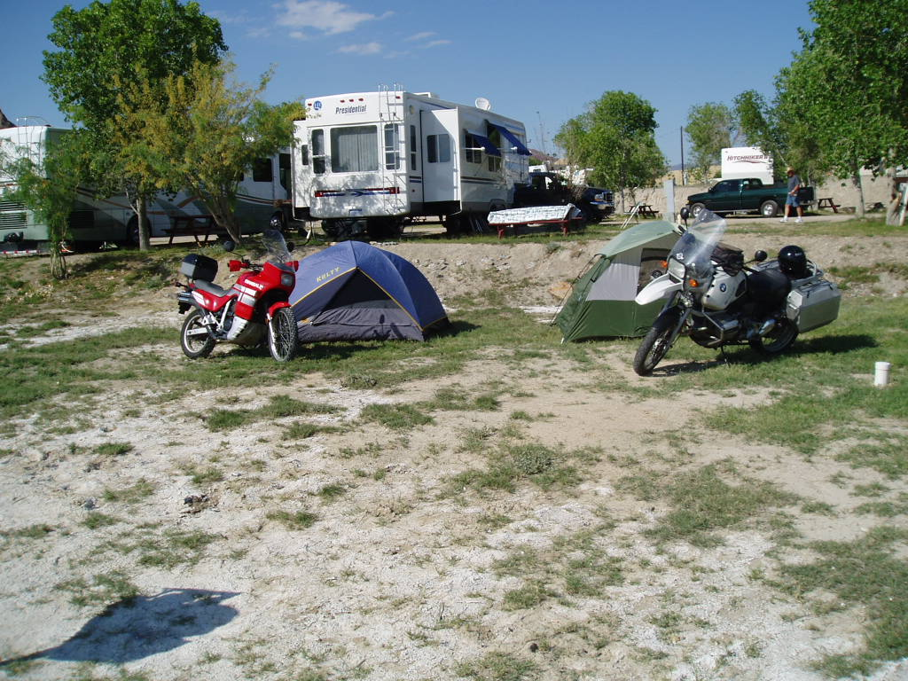 Camp site in Study Butte, Big Bend Texas
