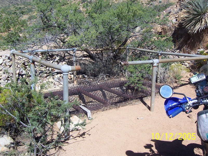 Bluebird mine shaft opening.
