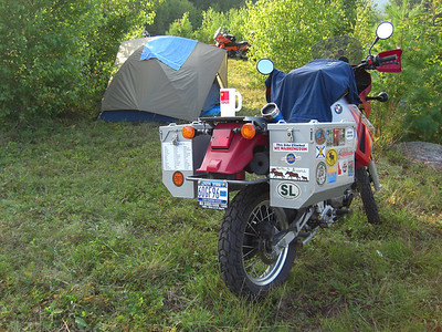 My KLR and tent