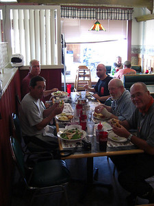 Street ride: lunch break at the Wilderness Cafe in Colebrook, NH.