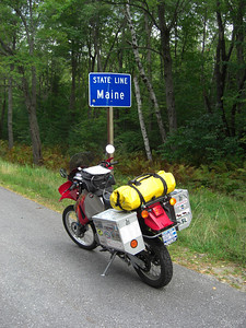 Maine at last, on US 2, just west of Gilead.