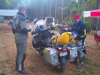"""Iron Butt Rally Finisher: """"Sure, I always carry a pancake griddle and an emergency life raft with me in the Iron Butt Rally."""""""