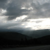 moody skies on the way to Trout River